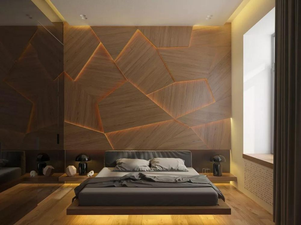 Wood Flooring Upper Wall